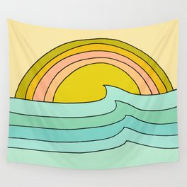 daydreams glassy swells and sunrise radiate by surfy birdy Wall Tapestry