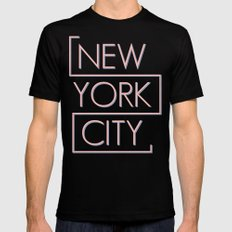 NEW YORK CITY MEDIUM Mens Fitted Tee Black