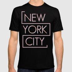 NEW YORK CITY Black MEDIUM Mens Fitted Tee
