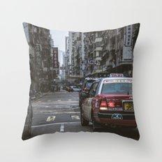 Hong Kong Street Throw Pillow
