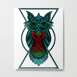 Owl The Nocturnal Metal Print