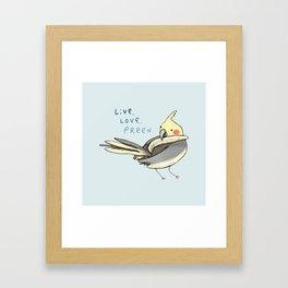Live, Love, Preen Framed Art Print