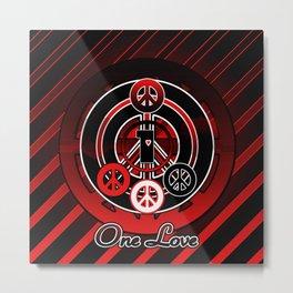 One Love (Emo) Metal Print