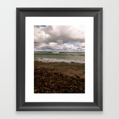 Stony Beach in Rogers City, MI Framed Art Print