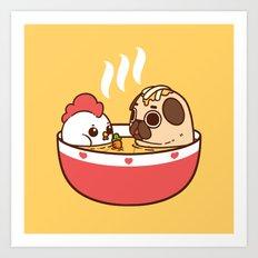 Chicken Noodle Puglie Soup Art Print