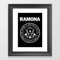 Ramona - Black Framed Art Print