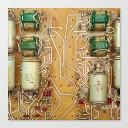 Electronic circuit board Canvas Print