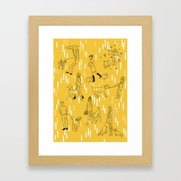 Dogs and Their Owners (Autumn) Framed Art Print