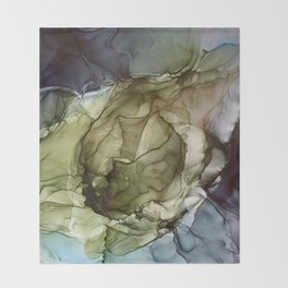 Calm Nature- Earth Inspired Abstract Painting Throw Blanket