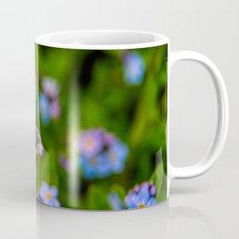 Forget-me-nots In The Rain Coffee Mug
