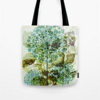 dandelion Tote Bags featuring dandelion by clemm