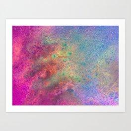 Painting Under UV Spectrum, Unique Blend Of Colors, Original Contemporary Artwork, Copper Art Print