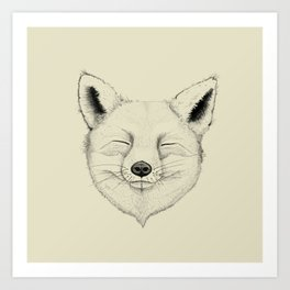 Fox Mood Art Print
