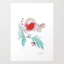 Red Robin 2 Art Print