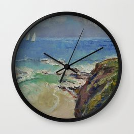 Sailing off the Cove Wall Clock