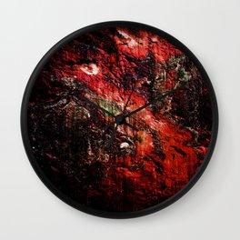 Natural Texture Deep Reds Wall Clock
