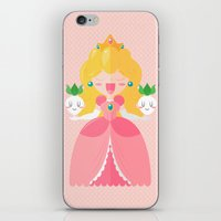 princess peach iPhone & iPod Skins featuring Peach by Khatii