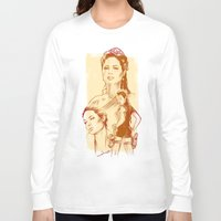 angelina jolie Long Sleeve T-shirts featuring Angelina Jolie - Série Ouro by Renato Cunha