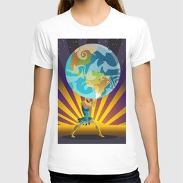 atlas holding the world T-shirt