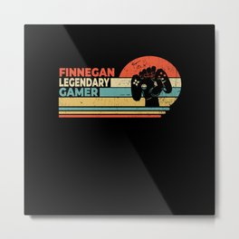 Finnegan Legendary Gamer Personalized Gift Metal Print