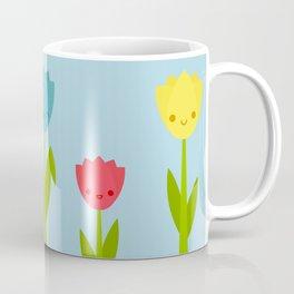 Cute Kawaii Tulips Coffee Mug
