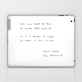 You will never be able to escape from your heart. Laptop & iPad Skin