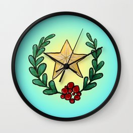 Watercolor - You Are My Lucky Star Wall Clock