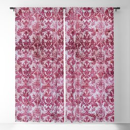 Vintage Antique Pink-Magenta Wallpaper Pattern Blackout Curtain