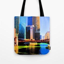 Clark St. Bridge, Chicago (Pop) Tote Bag