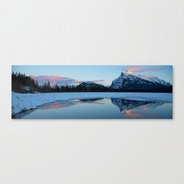 Banff Alberta, Rundle Mountain  Canvas Print