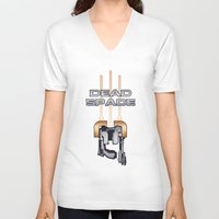 dead space V-neck T-shirts featuring Dead Space by Spiritius