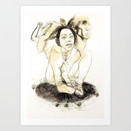 Tristan Corbière, Thick Black Trace, A la memoire de Zulma Art Print