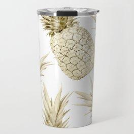 Gold Pineapple Bling Travel Mug