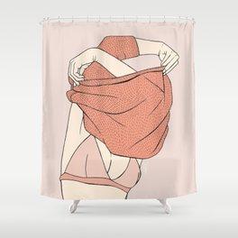 Sweater Struggles Shower Curtain