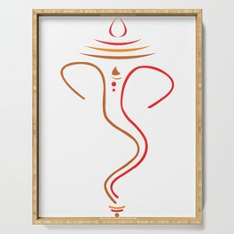 Simple And Elegant Lord Ganesha Serving Tray