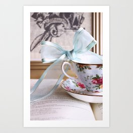 Teacup & Ribbon Art Print