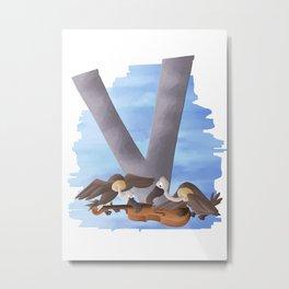 V comme Vautours Metal Print