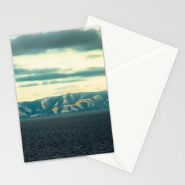 Ocean and mountains view at Rancho Palos Verdes California USA Stationery Cards