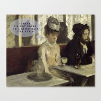 degas Canvas Prints featuring Talking Paintings - Degas by madraccoon