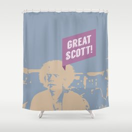 Great Scott! Back to The Future Shower Curtain