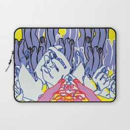 my hands as a mountain landscape Laptop Sleeve