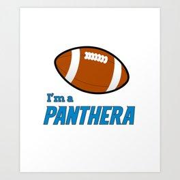 True Panthera American Football Design black lettering Art Print
