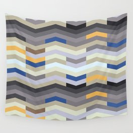 Modern Chevron - Peek O' Blue Wall Tapestry