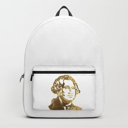 First President of The USA George Washington Gold Look Portrait Bust Backpack