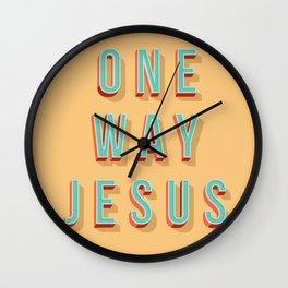 ONE WAY JESUS Wall Clock