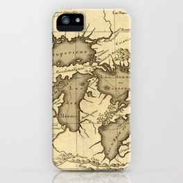 Great Lakes Map - 1737 iPhone Case