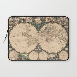 Vintage World Art Map Laptop Sleeve