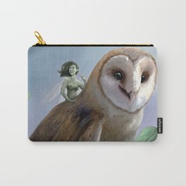 The Faery and the Barn Owl Carry-All Pouch