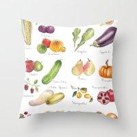calendar Throw Pillows featuring Calendar July-Dec by Brooke Weeber
