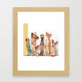 Pets Lineup Framed Art Print